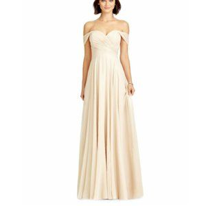 Dessy Collection Shimmering Chiffon A line Dress